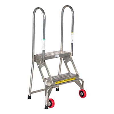 Phenomenal Folding Step Ladder With Wheels 2 Steps Stainless Steel Ocoug Best Dining Table And Chair Ideas Images Ocougorg