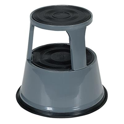 Industrial Rolling Stool Spring Loaded Casters Gray