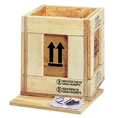 Un Marked Wooden Box 12 12 X 12 12 X 15 78 Id
