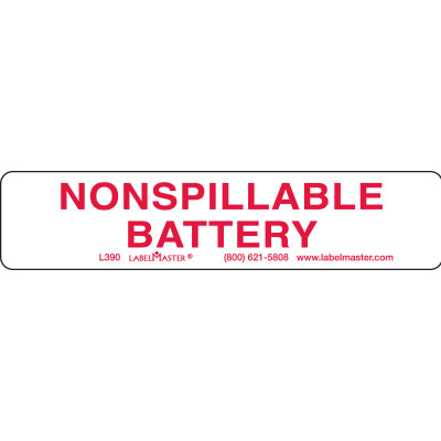 Nonspillable Battery Label