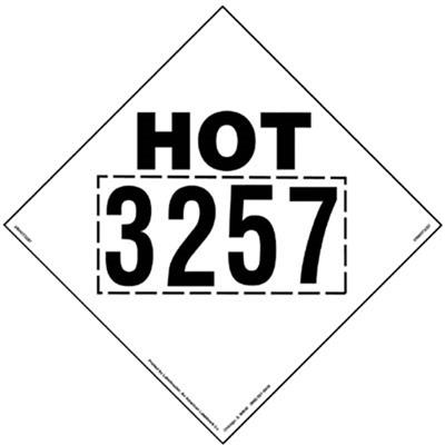 Hot 3257 Marking 273mm x 273mm Removable Vinyl, Pack of 25